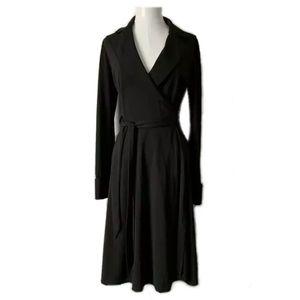 Express Clara Midi Wrap Shirt Dress Ponte Knit